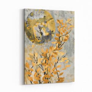Sarı Yapraklar Kanvas Tablo