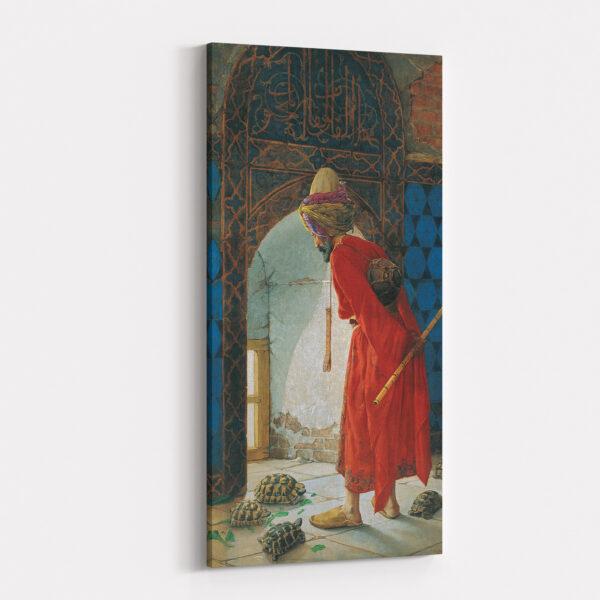 Osman Hamdi Bey Kaplumbaga Terbiyecisi Kanvas Evim