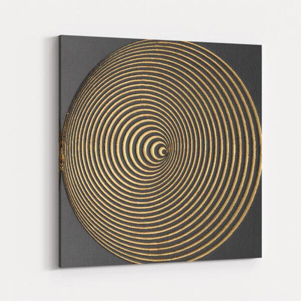 Dekoratif Soyut Spiral Kanvas Tablo